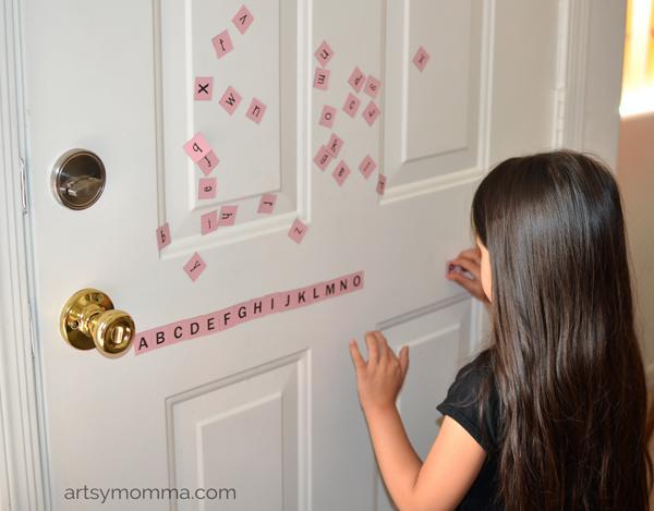 Magneict Alphabet Preschool Activities