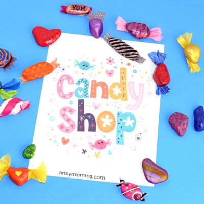 DIY Candy Rocks for a Pretend Candy Shop