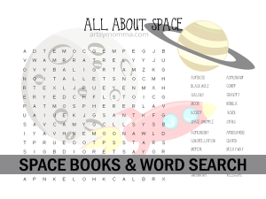 All About Space Word Search Printable