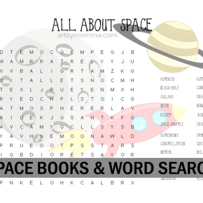 All About Space Word Search & Books for Upper Elementary Ages