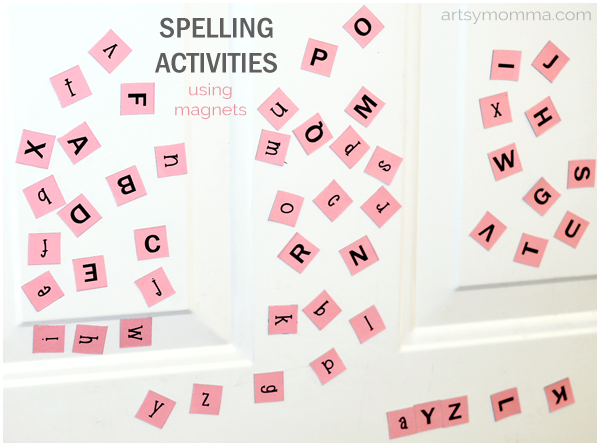 Spelling Activities for Kids Using Magnets