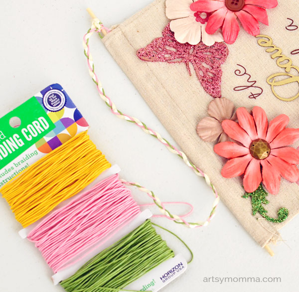 Using Braiding Cord fora Wall Hanging Craft