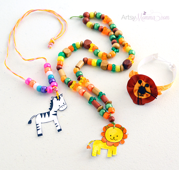 Laminated Stamped Jewelry Tutorial Jungle Craft For Kids