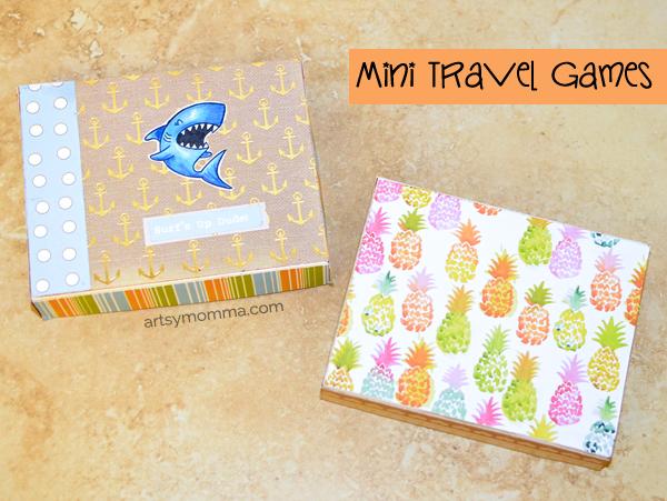 DIY Mini Travel Games (Tic Tac Toe & Straw Maze)