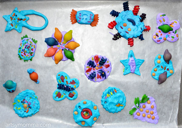 Colored Clay & Pasta Art Projects