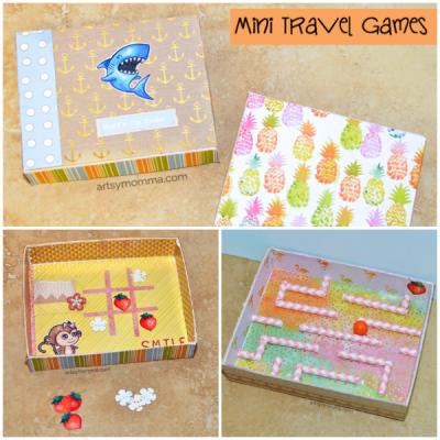 DIY Mini Travel Game – Marble Maze & Tic, Tac, Toe