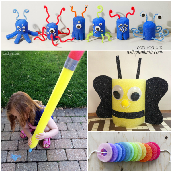 Pool Noodle Crafts for Kids - Boredom Buster