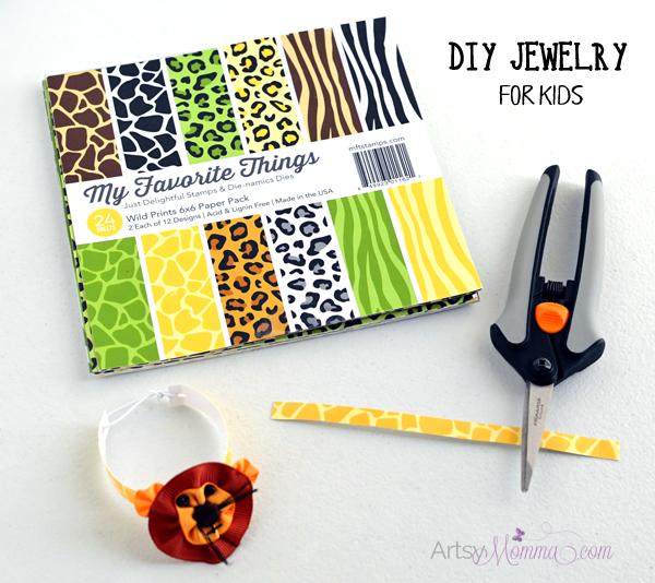 Easy to Make Bracelet Craft for Kids - Jungle Party Favor Idea