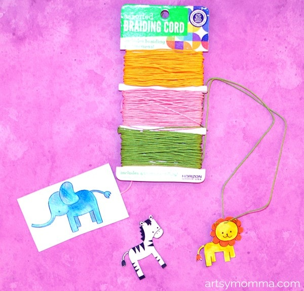 How to make Laminated Necklaces for Kids Using Animal Stamps