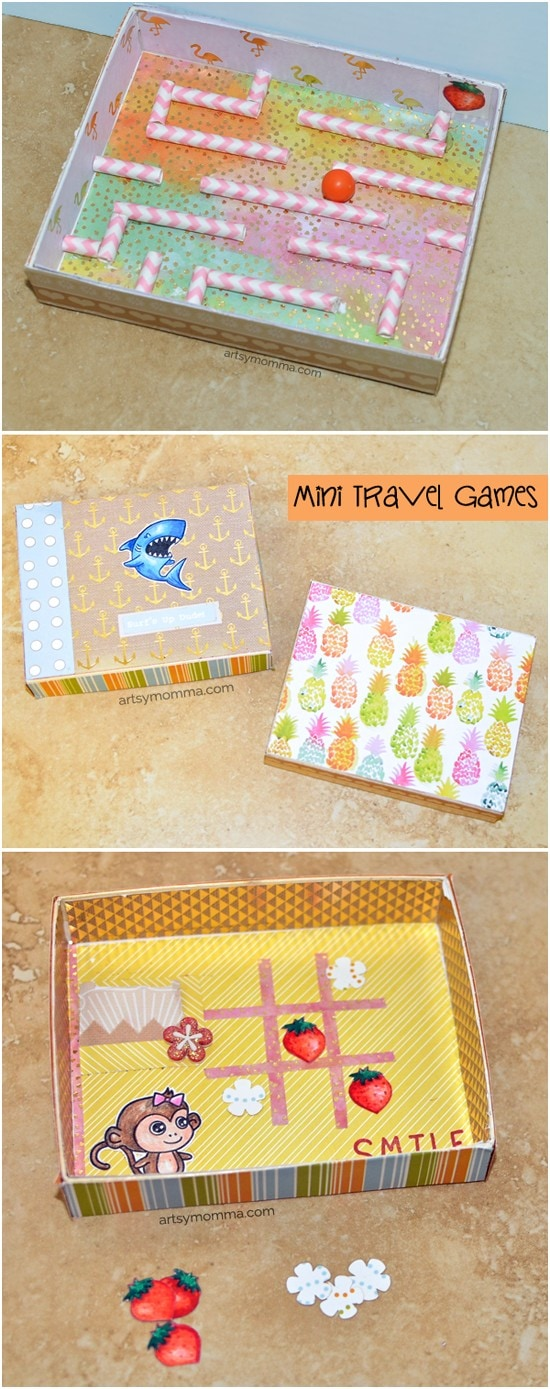Super cute Mini Travel Game project tutorial for kids