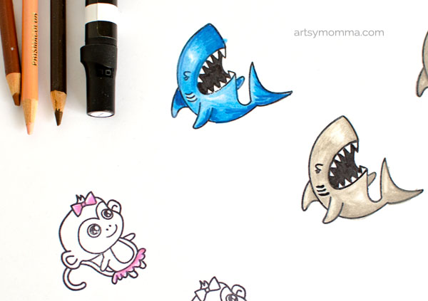 Shark Stamp (Tiger & Lily) Craft Tutorial