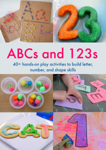 ABCs and 123s ebook - hands-on activities for kids