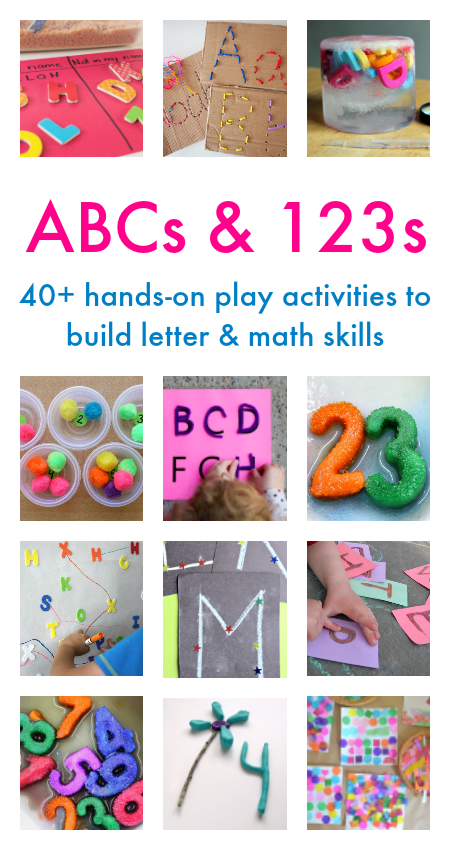 Hands-on Playful Learning: alphabet, number, and shapes activities