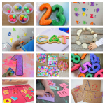 Learning the alphabet, shapes, math & more through hands-on learning activities