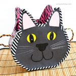 How to make a Black Cat Purse from a Cereal Box