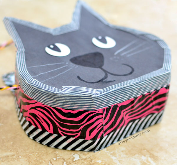 Black Cat Cereal Box Purse Craft for Kids