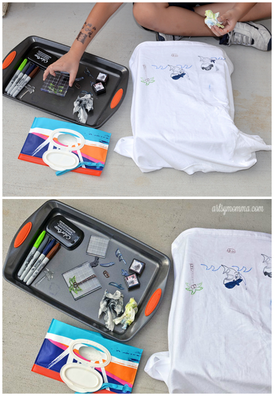 DIY Stamped T-shirt Project Tutorial