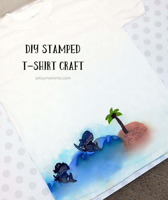DIY T-shirt Crafts for End of Summer Activity with Family & Friends