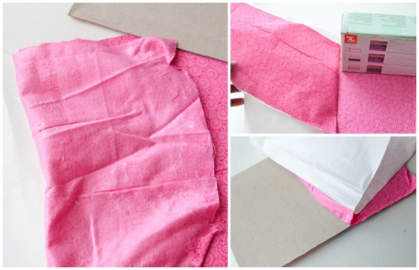 Fabric Covered Cardboard Box Tutorial
