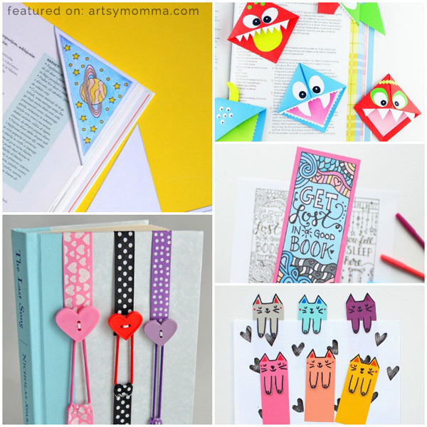 Creative diy bookmarks for kids to make artsy momma for Cool ways to make bookmarks