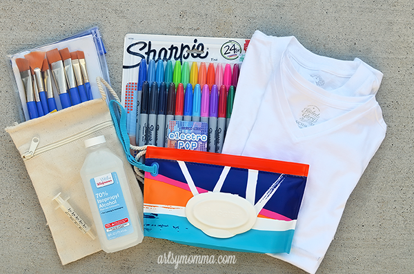 Labor Day Family Activity: Head outdoors to create DIY Sharpie T-shirt Designs - End of Summer Keepsake Craft