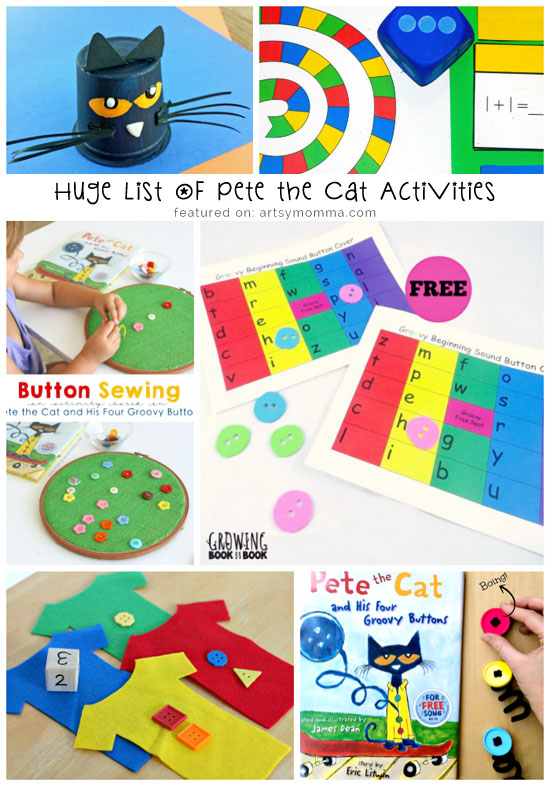 Pete the Cat Back to School Activities - Artsy Momma