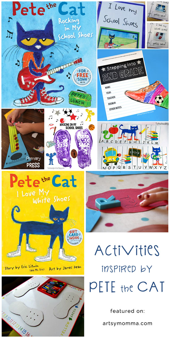 Back to School with Pete the Cat Activities, Books, Crafts, & Printables