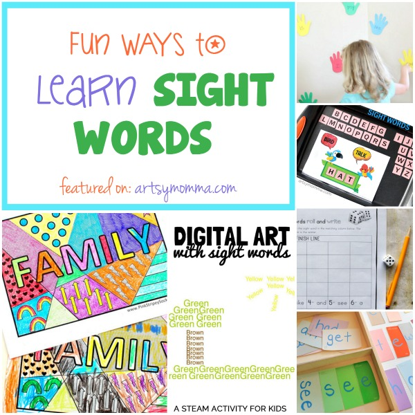 Printables, Art, and Games Ideas for Helping Kids Learn Sight Words