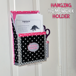 DIY Magnetic Hanging Homework Holder - Upcycled Cereal Box Craft