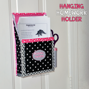 DIY Magnetic Hanging Homework Holder – Cute Decor Project