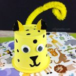 Recycled K Cup Cheetah Craft