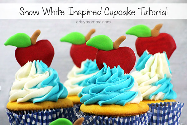 Snow White Inspired Cupcakes for a Birthday Party