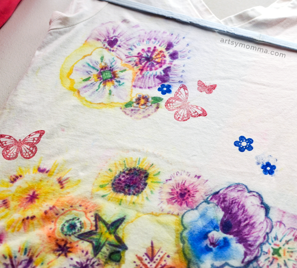 Stamped Shirt - DIY T-shirt Crafts + Tutorials