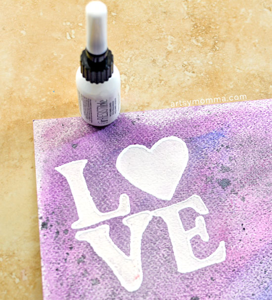 Love Stencil Art Detailed with IrRESISTible Pico Embellisher