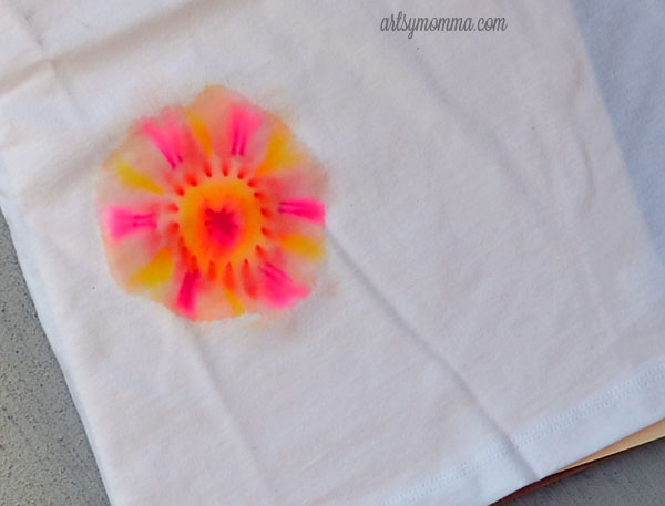 Tie Dye Sharpie T-shirt Craft for Kids