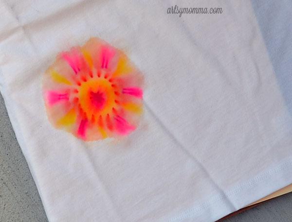 Tie Dye Sharpie T-shirt Craft for Kids