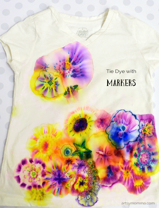 Tie Dye with Markers DIY T-shirt Craft for Kids