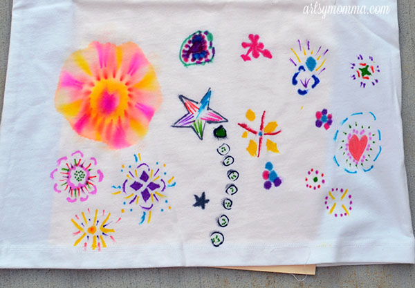 Tutorial for Tie Dying with Sharpies
