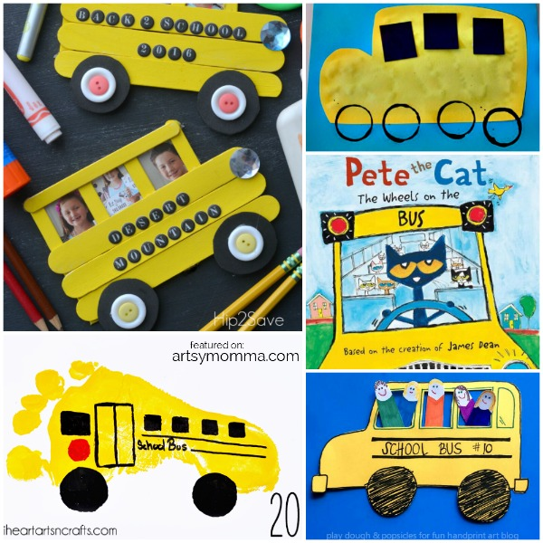 Pete the Cat School Bus Crafts & Activities