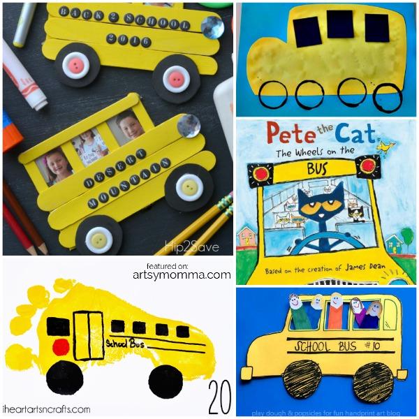 Pete the Cat School Bus Crafts & Activities