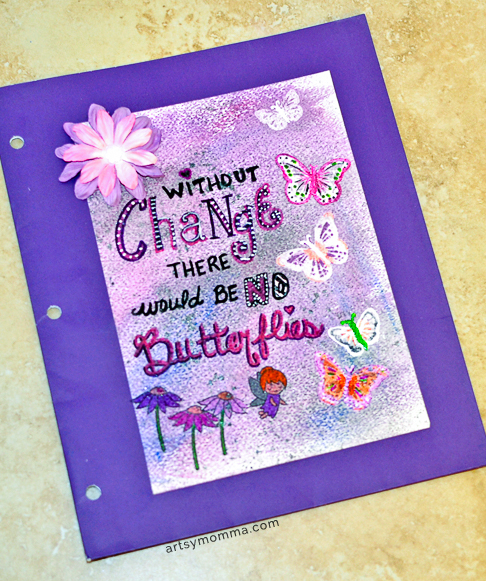 Without Change There Would Be No Butterflies Saying - DIY Project Using Ink Potion No 9