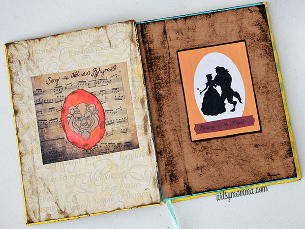 Beauty and the Beast Journal Craft Tutorial