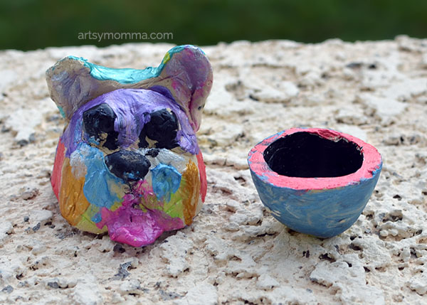 Clay Dog Art Project and Mini Bowl
