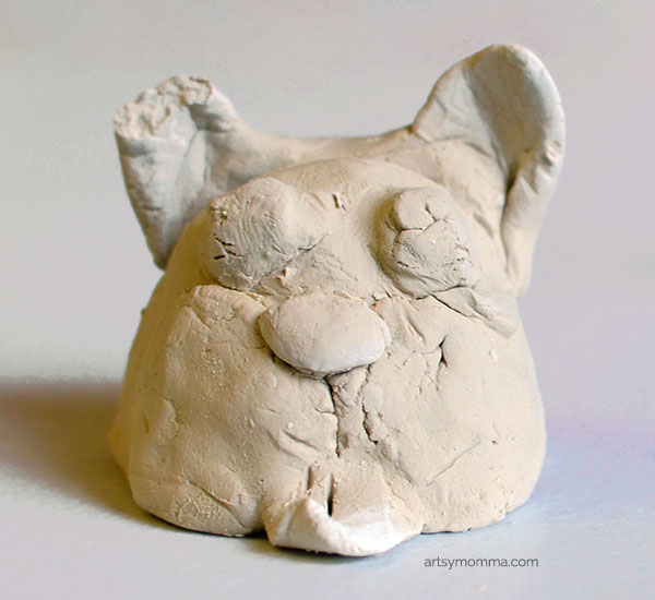 Clay Dog Craft for Kids