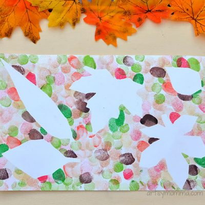 Leaf Art Projects for Kids using Fingerprints