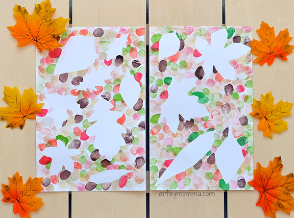 Use Fingerprint to Create Fall Leaf Silhouette Art