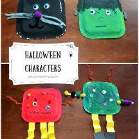 Fun Paper Plate Halloween Characters