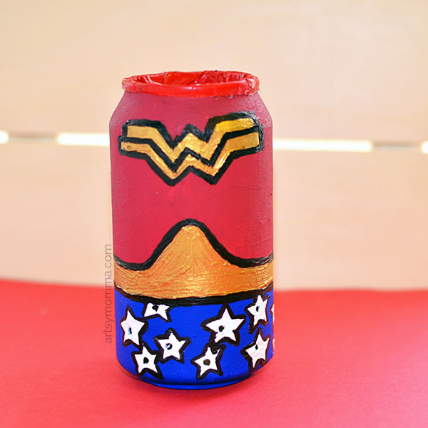 Wonder Woman Craft - Recycled Soda Can Idea