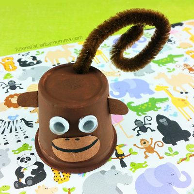 Silly K Cup Monkey Craft and Book Suggestions