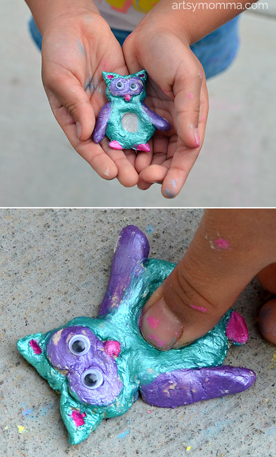 Thumbprint Owl Clay Craft for Kids